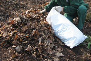 Na wierzch kopczyka nasypujemy różnych materiałów, np. liści. Najważniesze aby były suche