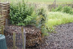 Miejsce na pryzmę kompostową powinno znajdować się nieco na uboczu, aby zasłaniały ją jakieś krzewy