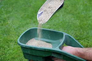 Siewnik ustawiamy na odpowiedni stopień, aby nasiona spadały w odpowiedniej ilości