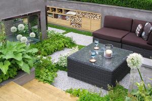 Hosta i nowoczesne patio