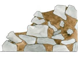 Budowę ogrodu skalnego rozpoczynamy od umieszczenia skał na dole
