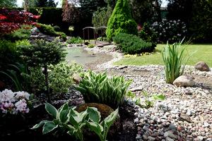 Majowy ogród wygląda świeżo i zdrowo