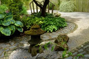 Kompozycje kamienne  (ogród w stylu japońskim w Barnsdale)