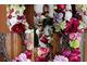 Inny wianek do kompozycji z bordowymi kwiatami