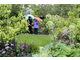 Mały trawnik z roślinnością wokół to najpopularniejszy model miejskiego ogródka