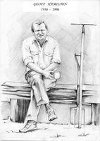 Ku pamięci - Geoff Hamilton 1936 - 1996, rys. Monika Jadczak