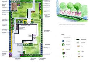 Projekt Gardenarium: ścieżka nie biegnie prosto, zahacza o niewielką rabatę