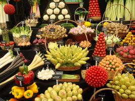 Warzywne bukiety na wystawie Chelsea Flower Show w 2010 roku. Prawda, że pięknie to wygląda?