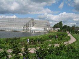 Jedna z największych atrakcji Wisley - nowoczesna szklarnia podzielona na 3 główne sekcje: tropikalną, umiarkowaną wilgotną i umiarkowaną suchą