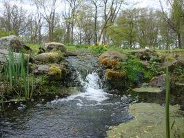 Udając się w kierunku ogrodów cienistych mijamy kilka strumieni i wodospadów