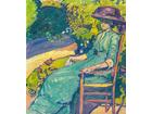 Junge frau im garten amy moser 1910