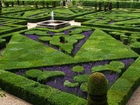 French formal garden in loire valley